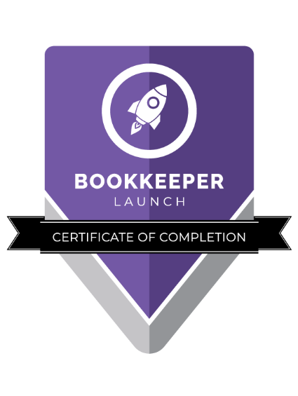 Bookkeeper Launch Certified - Certificate of Completion - Alabama - Explorer Bookkeeping